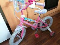 "Disney princess bike Age 4 wheel size 14 "" prestine condition"
