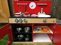 John Lewis wooden play kitchen with extras