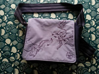 Lassig changing bag, purple, good used condition