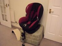 MaxiCosi Priorifix 9-18KG isofix system car seat perfect condition beautiful pattern