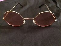 Pink tinted round 60's costume glasses