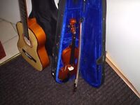 guitar and a half size violin GOING CHEAP (cud deliver)