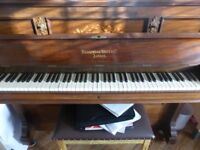 Lovely antique wooden upright piano - Broadwood White & Co. London