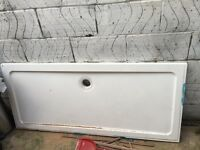 Brand new unused shower tray white, ensuite, bath, walk in shower 160 in x 60 in rectangle