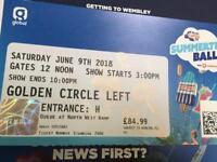 2 Capital Summertime Ball Tickets Gold Circle Left