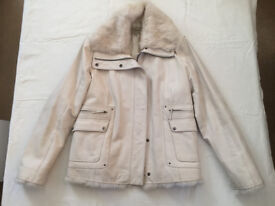 Genuine Leather Jacket with natural fur trim by COMBIPEL ITALY