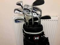 12 Golf clubs Stanley Roger Dunlop Wilson A + condition free bag mint condition