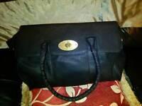 Mulberry Black satin bayswater bag