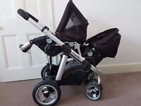 iCandy Pear - Twin pram + 2 Car seats + 2 Isofix + FREE GIFTS