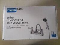 Plumbsure Amber Chrome Bath Shower Mixer Tap