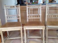 Antique solid wood chairs x 3