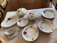 Poland Porcelain Cmielow, Chodziez, Favolina 65 pieces dinner service, Coffee set and tea set
