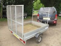 GALVANISED 6X5 GOODS TRAILER 500KG UNBRAKED WITH MESH RAMPTAIL....