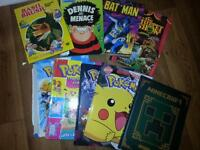 largw selection of kids books and annuals