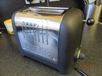 DUALIT LITE 2 SLICES TOATER BLACK VERY GOOD TO AS NEW CONDITION