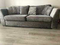 Crush velvet four seater sofa