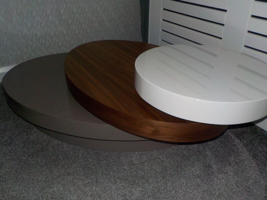 Dwell Contemporary Low 3 Tier Rotating Coffee Table In Leith Links Edinburgh Gumtree