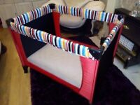 Travel cot MINT CONDITION two tier comes with mattress