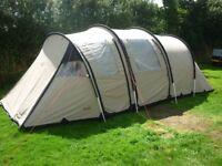 Robens Triple Horizon polycotton (modern canvas) family tent. Sleeps 6-7
