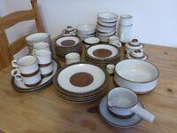 Denby 'potters wheel' crockery set