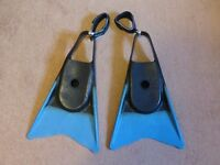 BODYBOARDING FINS COMPLETE WITH FIN SAVERS - EXTRA LARGE SIZE - Good Condition