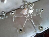 John Lewis ceiling lamp plus two matching wall lights