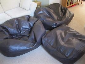 Large Bean Bags from NEXT - 2 + square 'footstool'