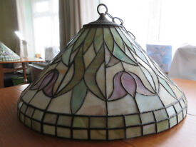 Large handmade stained glass lampshade