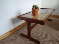 Vintage Mid Century G Plan Teak/Tile/Glass Coffee Table