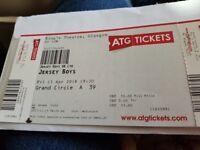 2 Jersey boys tickets