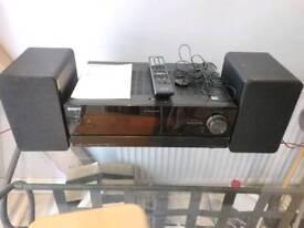 Sony STR-DN1000 7.1 AV Receiver and speakers