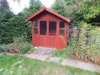 SUMMER HOUSE 8'X7' GLAZED, DOUBLE DOORS
