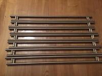 14 straight stainless steel door handles