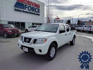 2014 Nissan Frontier SV 4WD Crew Cab - Glacier White, 39,659 KMs