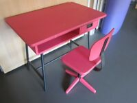 Desk (table) + chair for children, 4-5 y/o pink