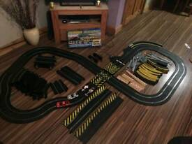 Massive Scalextric Sports Track plus 5 cars loads of extras