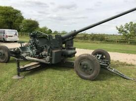 Ex military anti aircraft gun