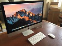 Late 2013 gigantic 27in iMac with mouse and keyboard
