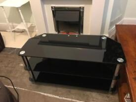 Black Glass Television Unit