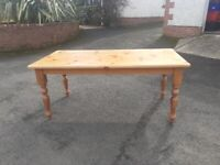 Solid wood table and 6 solid wood chairs