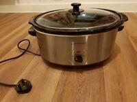 Cookworks slow cooker 6.5litres