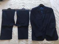 M&S Men's Navy Tailored Suit - 42 long/34 Long