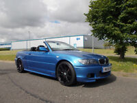 BMW 325 CI M-SPORT CONVERTIBLE STUNNING BLUE 2005 ONLY 37K MILES BARGAIN 6450 *LOOK* PX/DELIVERY