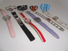 Selection Bundle Of 10 Ladies Women's Watches, some new, some used, all in good condition