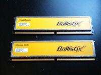 Dual kit DDR 2 Crucial Ballistix 2GB 1066mhz