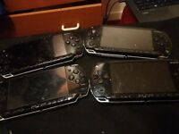 4 broken psp for parts 1 2000 and 3 1000