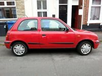 For sale Nissan Micra W reg red 1.0L 9 months MOT genuine low mileage (37740) good runner £200 ono