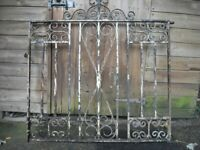 Gate, Ornamented,Decorative high quality vintage ironwork.108 cm w x 98 cm h, ery heavy, solid iron,