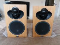 """LINN MAJIK LK109 SPEAKERS IN OAK FINISH IMMACULATE """"AS NEW"""" CONDITION FULLY BOXED COMPLETE PACKAGING"""