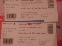 Nick Cave & Bad Seeds Nottingham 28thSep 2 Tickets